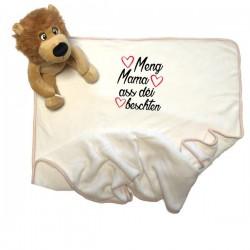 Kuscheltier Löwe mit Decke selbst gestalten