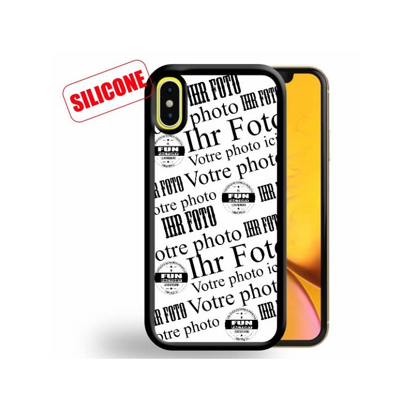 iphone XR coque silicone personnalisée