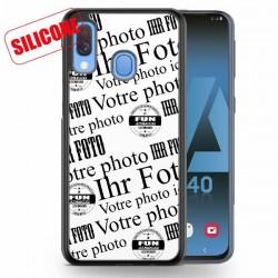 coque silicone personnalisé galaxy A40