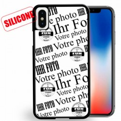 iphone X coque silicone personnalisée
