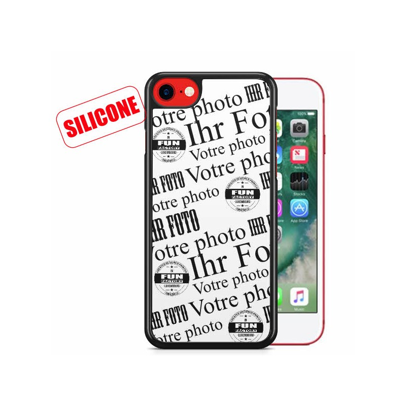 iphone 8 coque silicone personnalisée