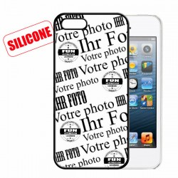 iphone 5/5S coque silicone personnalisée