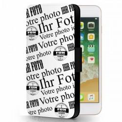 iphone 8  plus étui cuir personnalisé