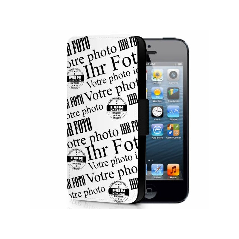 iphone 5 / 5SE étui cuir personnalisé