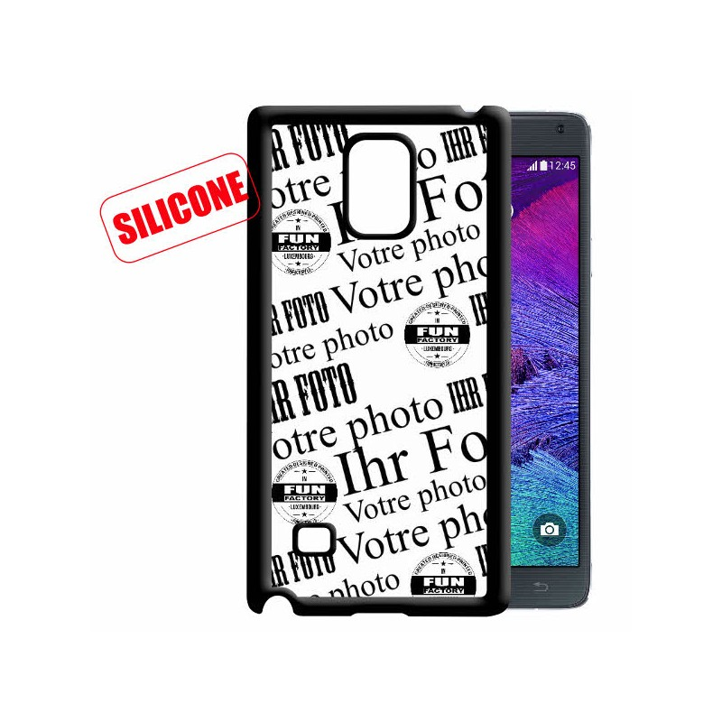 coque silicone personnalisée Note4