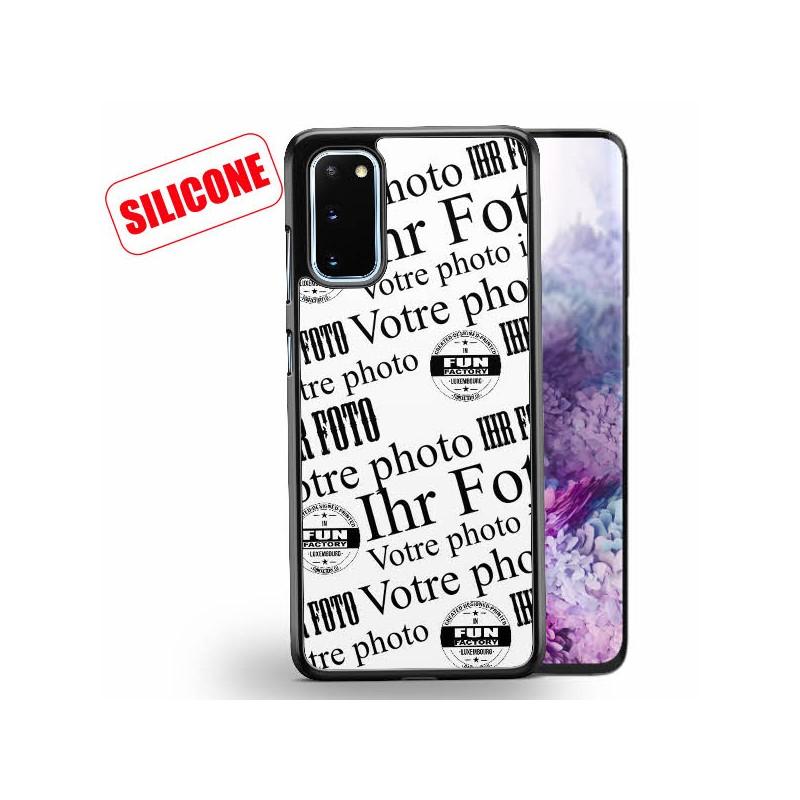 galaxy s20 plus coque silicone personnalisée