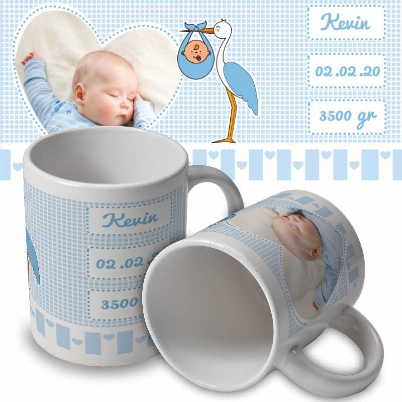 mug personnalisé pour baptême garcon