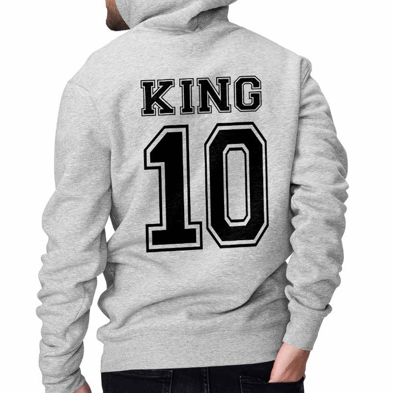 pullover king & queen gris