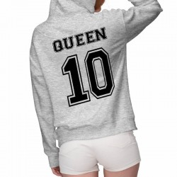 pullover a capuche gris king & queen