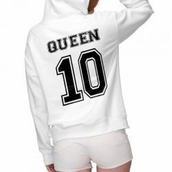 pull a capuche imprimé king & queen