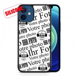 coque silicone personnalisable iphone12 Mini